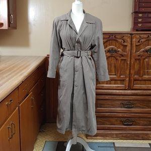 Liz Claiborne Lined Suede Long Coat 6P
